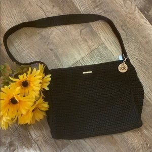 The Sak | Black Crochet Shoulder Bag Purse